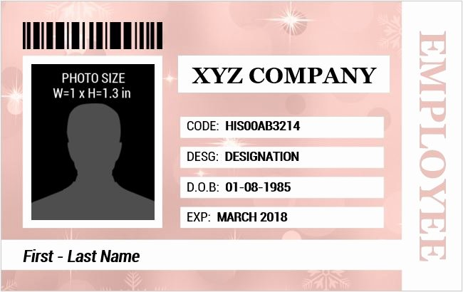 Id Card Template Word Fresh Employee Identification Card Templates Ms Word