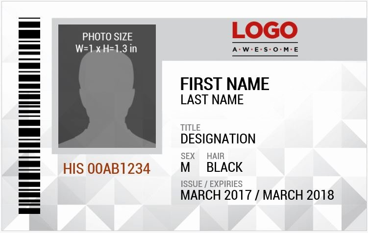 Id Card Template Word Fresh Ms Word Id Badge Sample Template