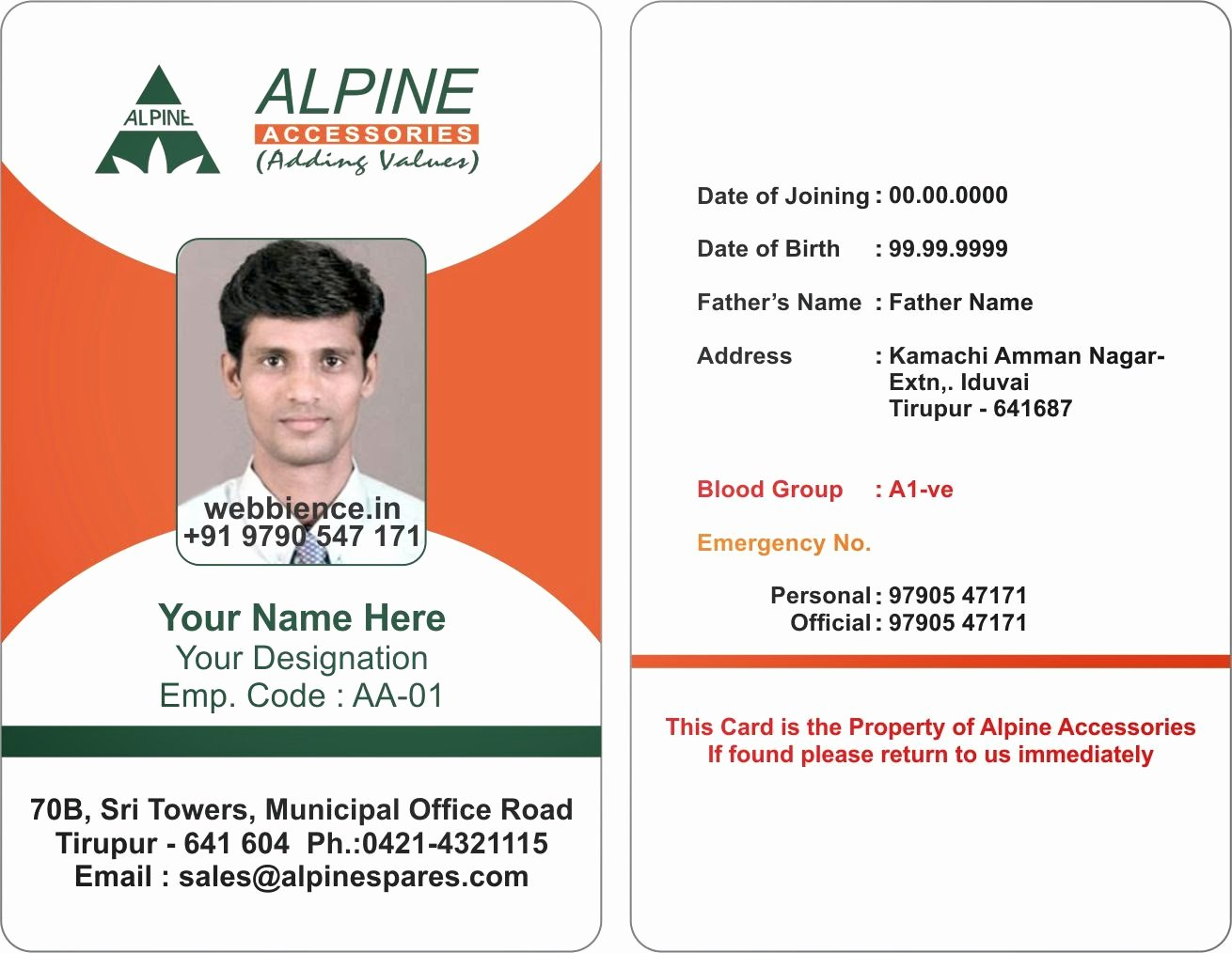 Id Card Template Word Fresh Template Galleries Employee Id Card Templates C
