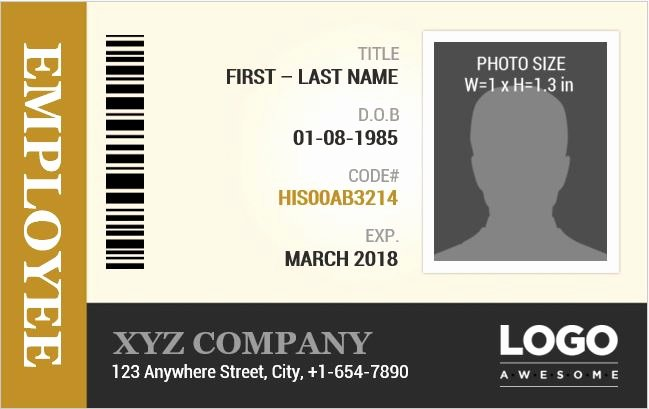 Id Card Template Word Inspirational Employee Identification Card Templates Ms Word