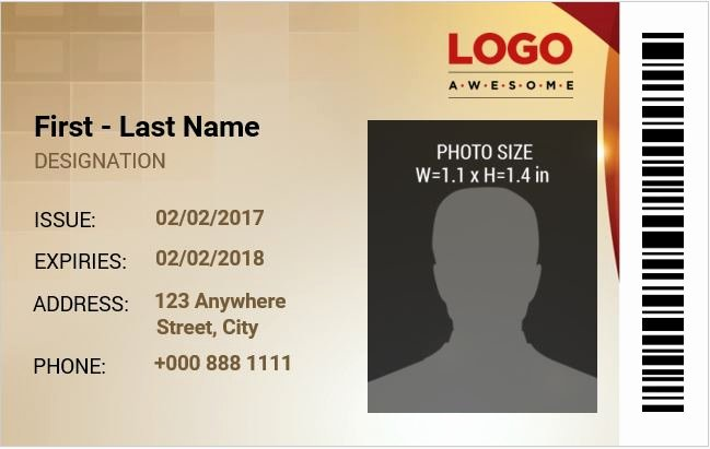 Id Card Template Word Lovely Employee Identification Card Templates Ms Word