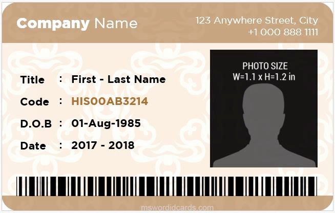 Id Card Template Word Luxury 5 Best Fice Id Card Templates Ms Word