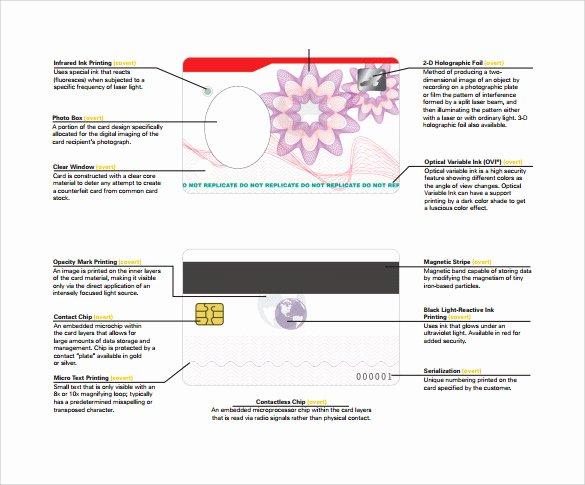 Id Card Template Word Luxury Free 35 Amazing Id Card Templates In Illustrator