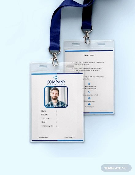 Id Card Template Word New 38 Id Card Templates Psd Eps Png