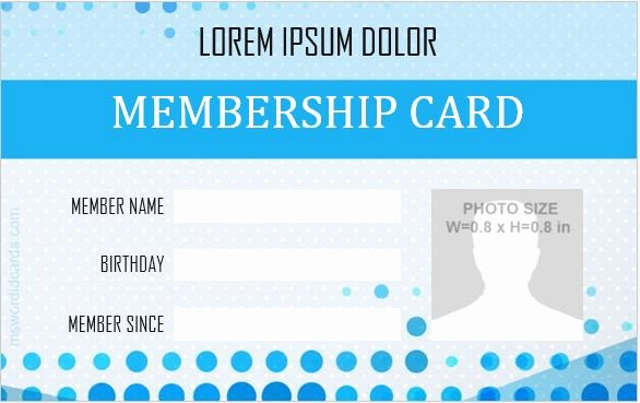 Id Card Template Word New 5 Best Membership Id Badge Templates for Ms Word
