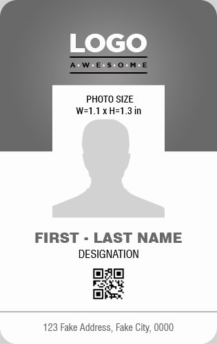 Id Card Template Word New Vertical Design Employee Id Badge Templates