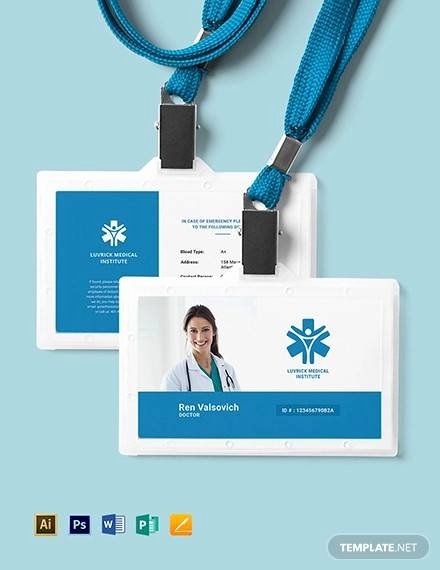Id Card Template Word Unique Free 35 Amazing Id Card Templates In Illustrator