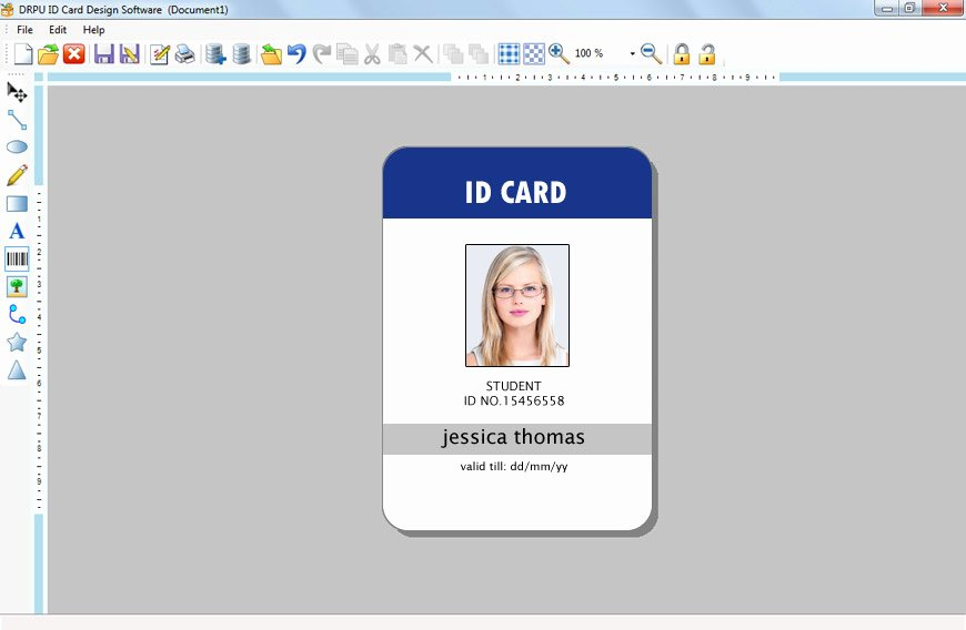 Id Card Template Word Unique Id Card Template