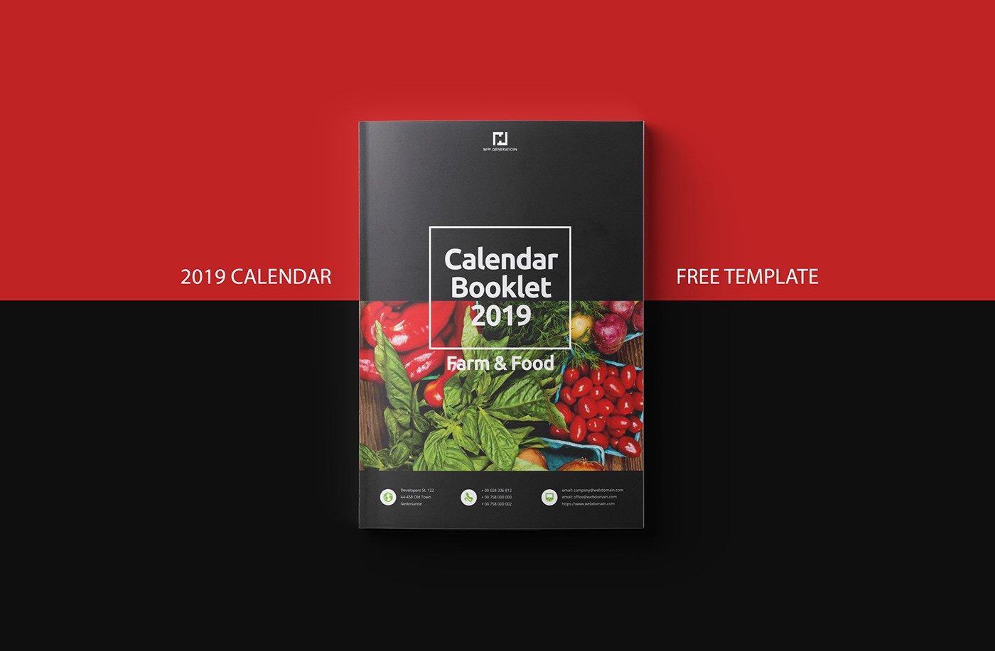 In Design Calendar Template Best Of Free Calendar 2019 Indesign Template On Behance