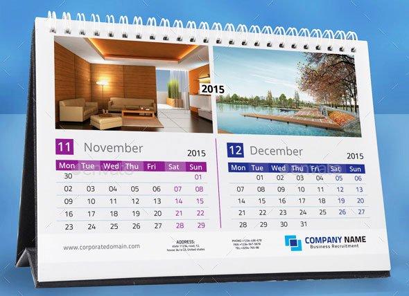 In Design Calendar Template Elegant 16 Calendar Indesign Templates for Year 2015 – Design Freebies