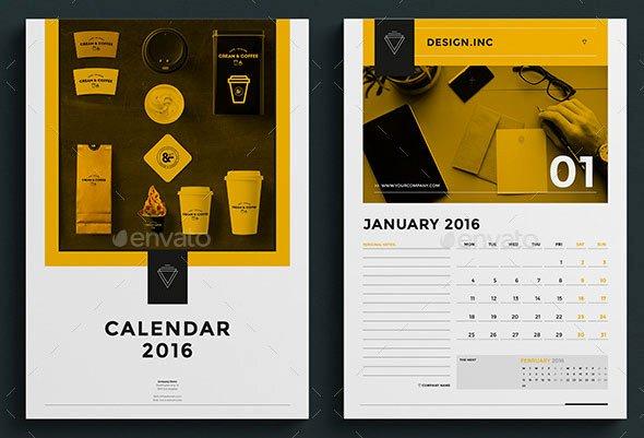 In Design Calendar Template Fresh 20 Best Calendar Template Designs 2016 Print