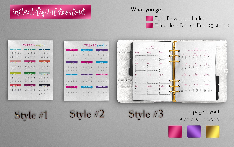 In Design Calendar Template Inspirational Annual Calendar