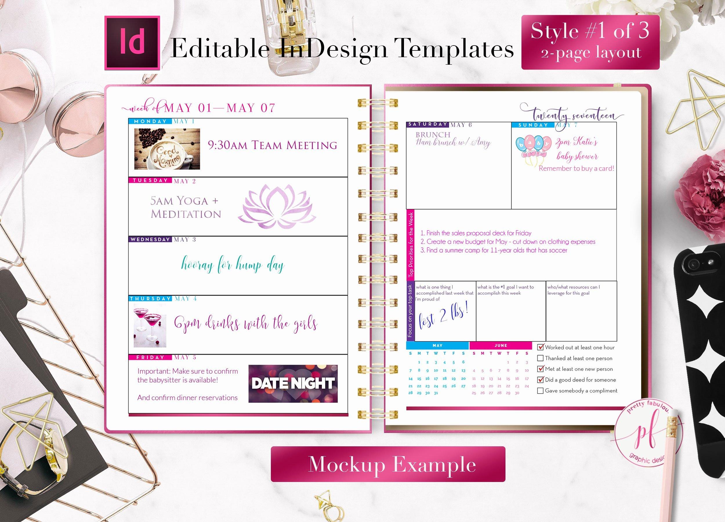 In Design Calendar Template Inspirational Weekly Calendar