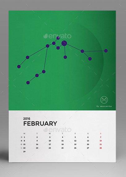 In Design Calendar Template Unique 19 Nice Calendar 2016 Indesign Templates – Design Freebies