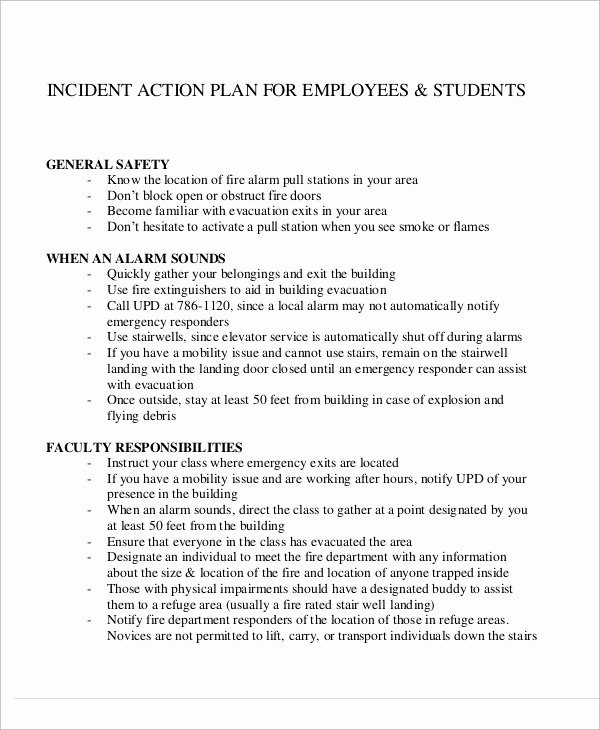 Incident Action Plan Template Awesome Sample Incident Action Plan 10 Examples In Word Pdf