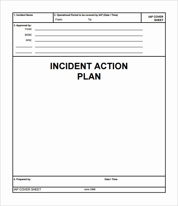 Incident Action Plan Template Lovely Incident Action Plan Template 9 Download Documents In
