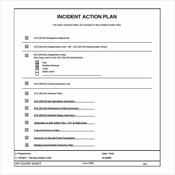 Incident Action Plan Template Unique Incident Action Plan Template Seven Things Nobody told You