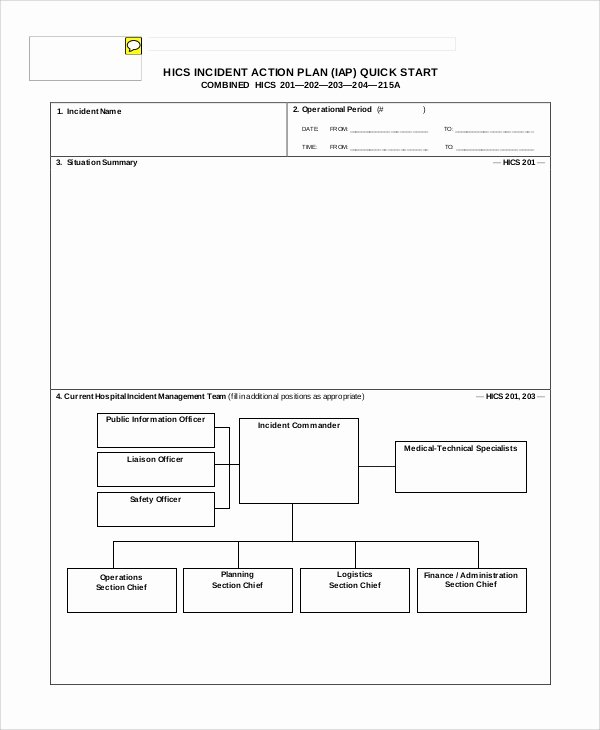 Incident Action Plan Template Unique Sample Incident Action Plan 6 Documents In Pdf Word
