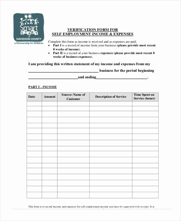 Income Verification form Template Elegant Verification form Templates