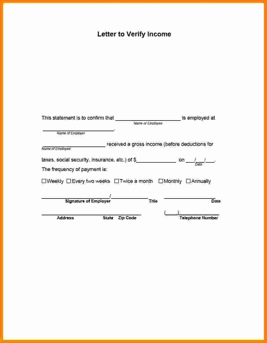 Income Verification form Template New 8 Employee Salary Verification
