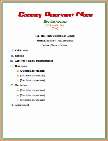 Informal Meeting Minutes Template Fresh 4 Informal Meeting Bookletemplate