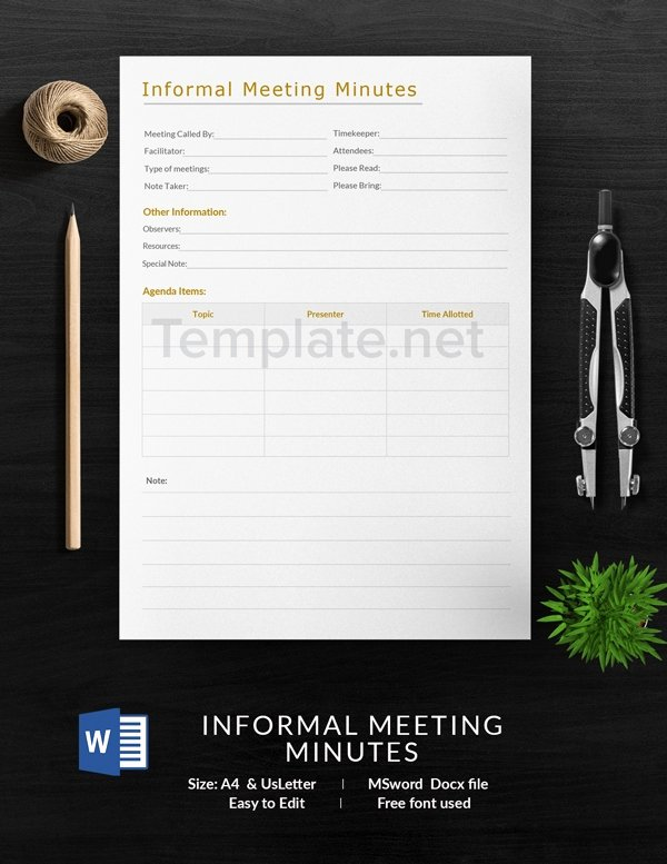 Informal Meeting Minutes Template Inspirational 14 Free Meeting Minute Templates Informal Corporate