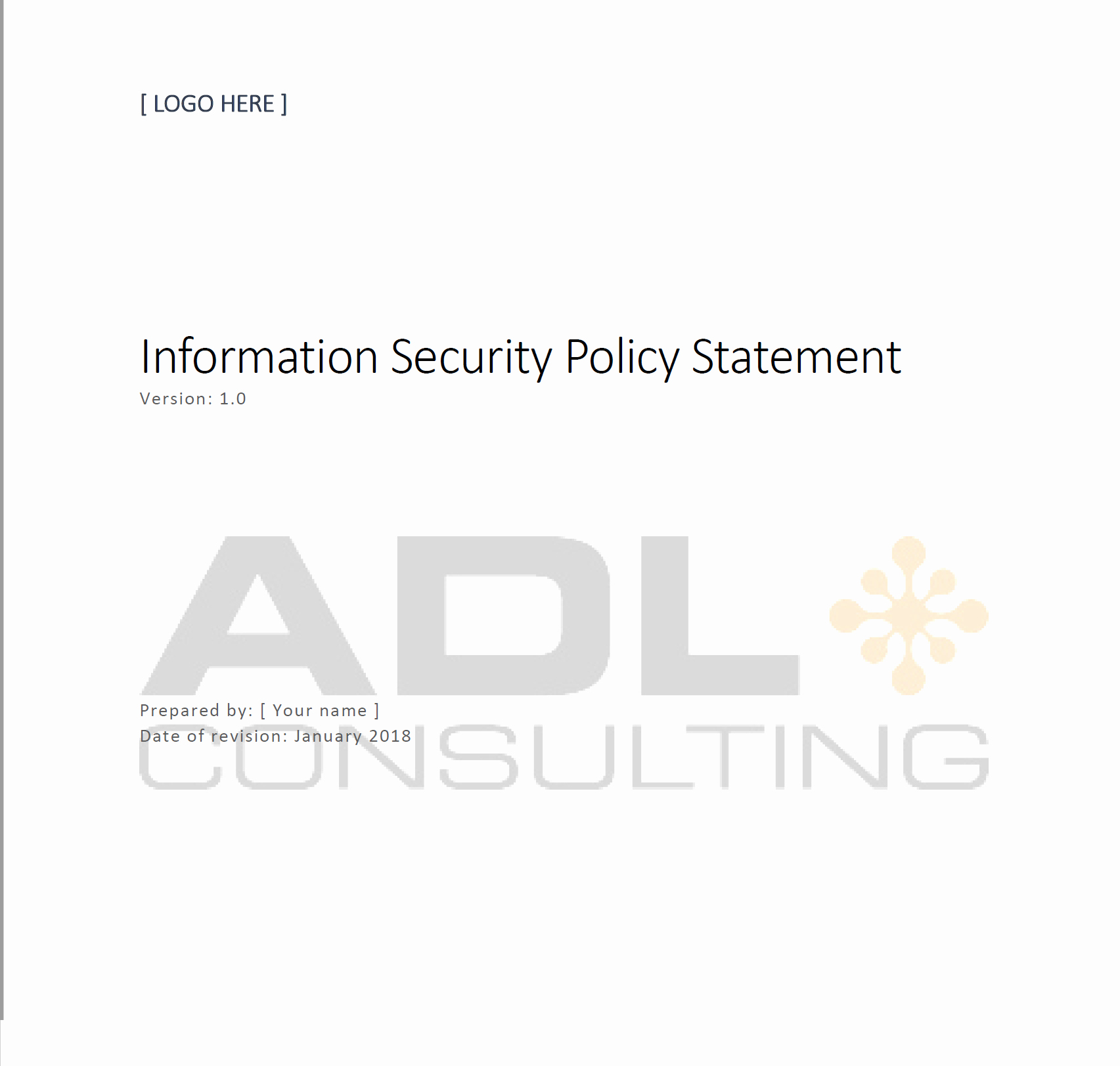 Information Security Policy Template Beautiful Information Security Policy Statement Template
