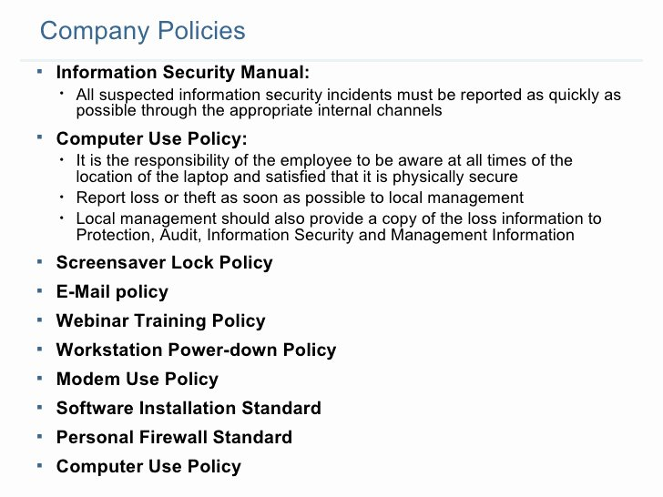 Information Security Policy Template Beautiful Information Security Policy Templates Bizoptimizer