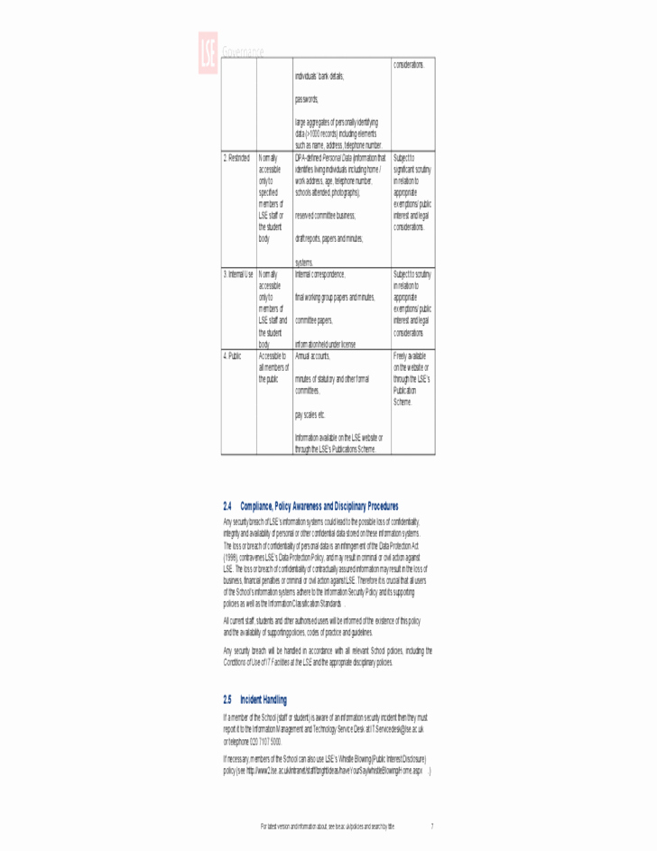 Information Security Policy Template New Information Security Policy Uk Free Download
