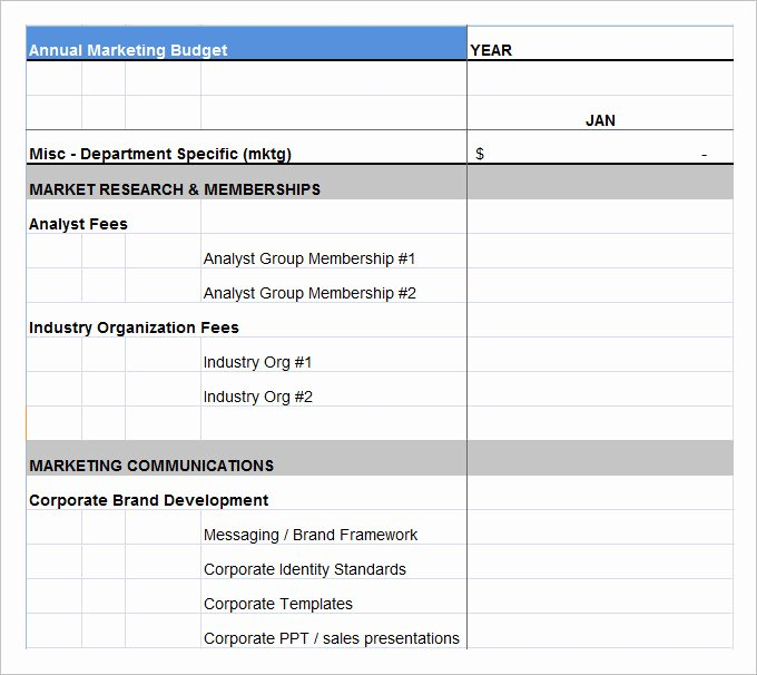 Information Technology Budget Template Best Of Marketing Bud Template 30 Free Word Excel Pdf