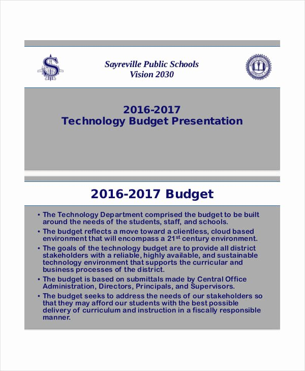 Information Technology Budget Template Elegant Bud Presentation Templates Free Pdf Documents