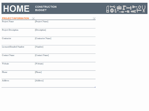 Information Technology Budget Template Luxury Home Construction Bud Templates Fice