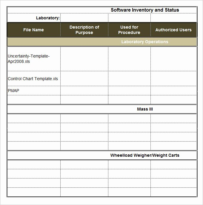 Information Technology Inventory Template Beautiful It Inventory Template 15 Free Word Excel Documents