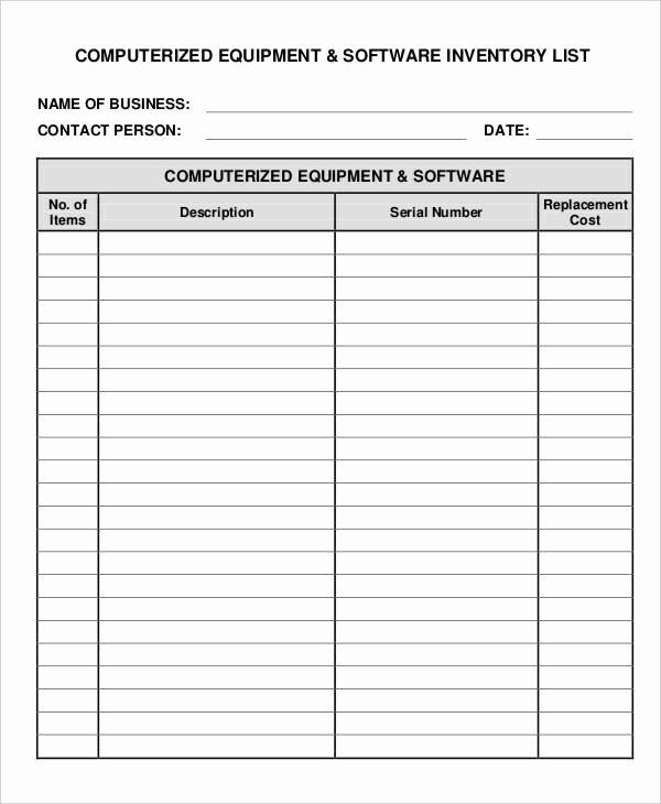 Information Technology Inventory Template Beautiful It Inventory Templates 9 Free Word Pdf format Download