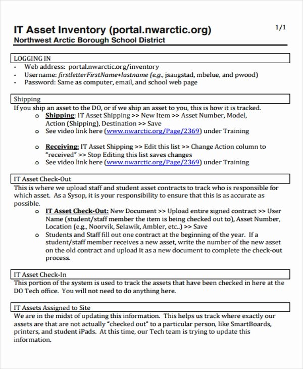 Information Technology Inventory Template Unique 7 It Inventory Templates Sample Example