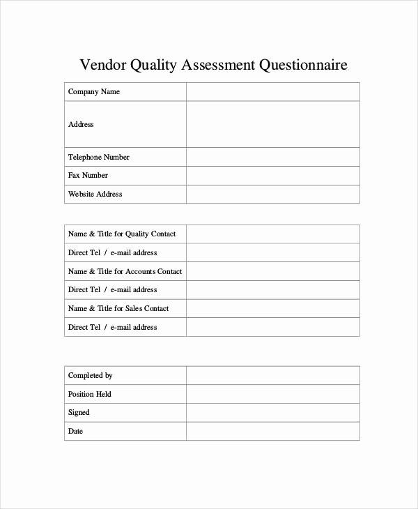 Information Technology Risk assessment Template Fresh assessment Questionnaire Template Information Technology