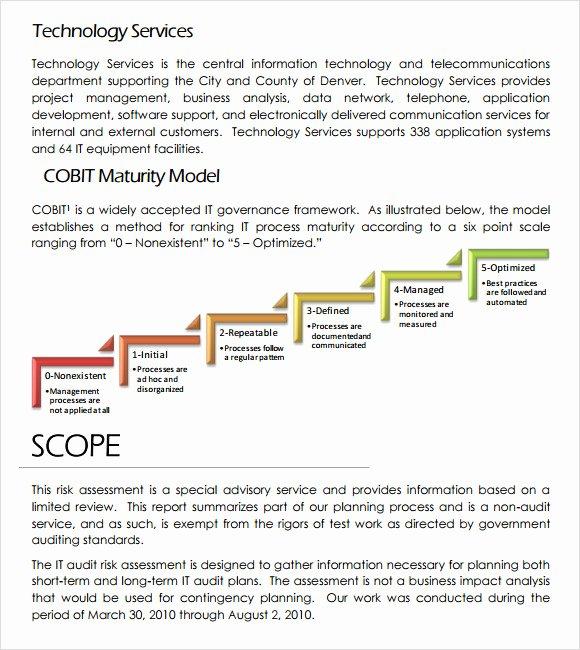 Information Technology Risk assessment Template Fresh Free 11 Sample It Risk assessment Templates In Pdf