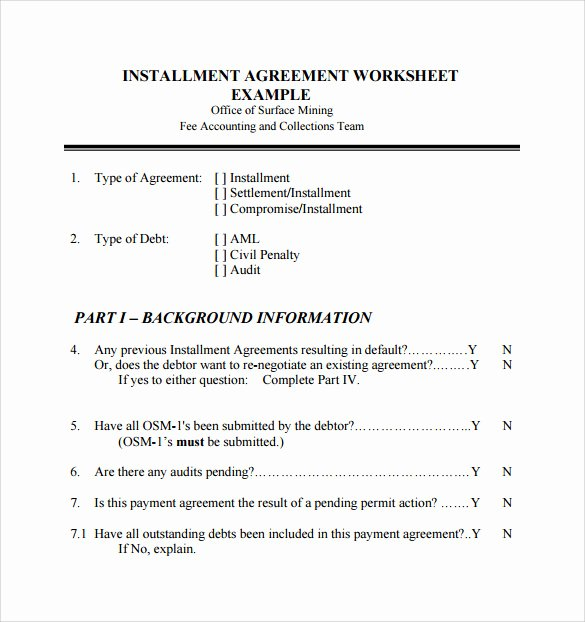Installment Payment Agreement Template Awesome 7 Sample Installment Agreements