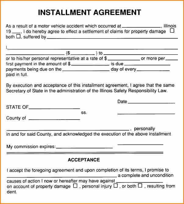 Installment Payment Agreement Template Beautiful 6 Installment Payment Contract Template