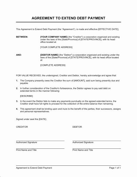 Installment Payment Agreement Template Beautiful Installment Payment Agreement Template
