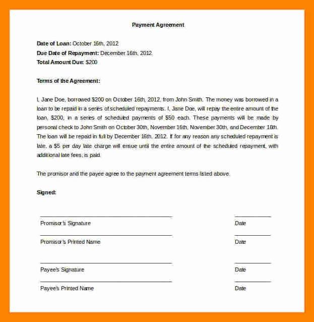 Installment Payment Agreement Template Elegant 12 Installment Payment Agreement Template