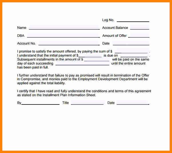 Installment Payment Agreement Template Lovely 8 Installment Payment Contract Template