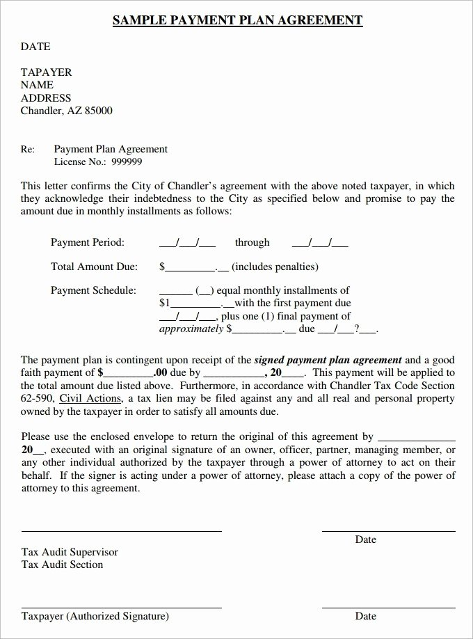 Installment Payment Agreement Template Luxury Payment Plan Agreement – Laustereo