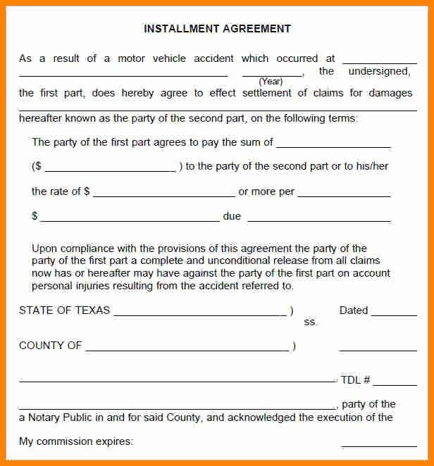 Installment Payment Agreement Template Unique 7 Installment Payment Plan Agreement Template