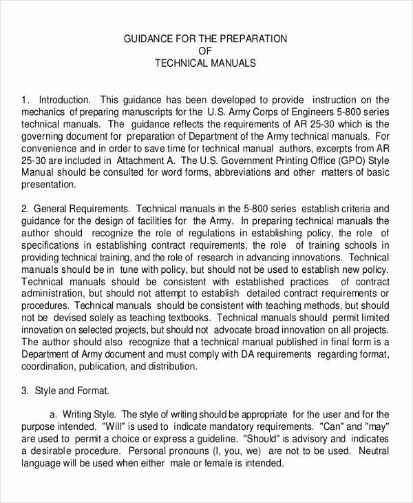 Instruction Manual Template Word Best Of Instruction Manual Template 10 Free Word Pdf Documents