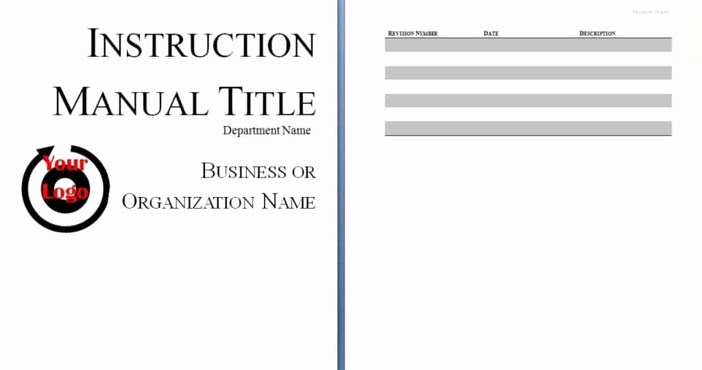 Instruction Manual Template Word Luxury Instruction Manual Template Word Excel Pdf formats