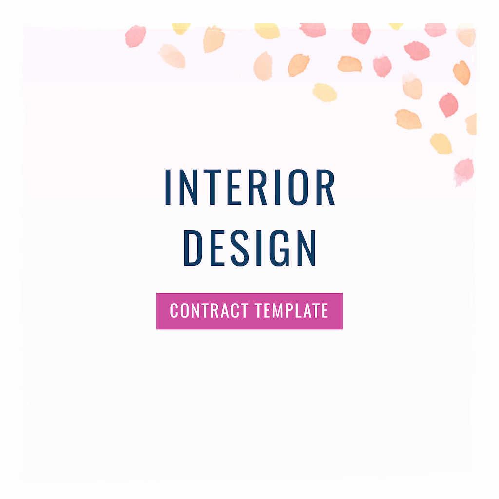 Interior Design Contract Templates Beautiful Interior Designer Contract Template the Contract Shop