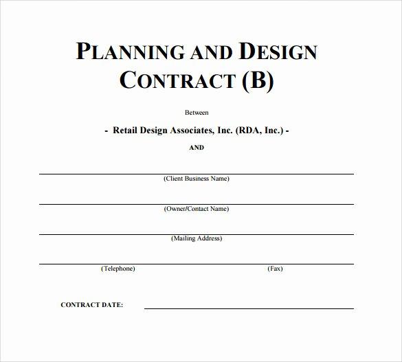 Interior Design Contract Templates Inspirational Interior Design Contract Template 12 Download Documents