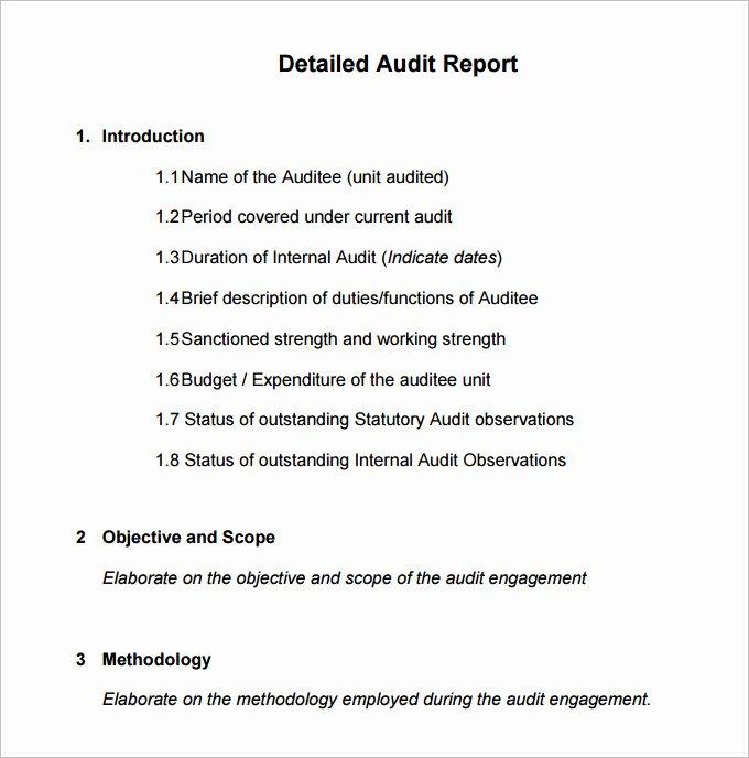 Internal Audit Report Templates Best Of 20 Internal Audit Report Templates Word Pdf Apple