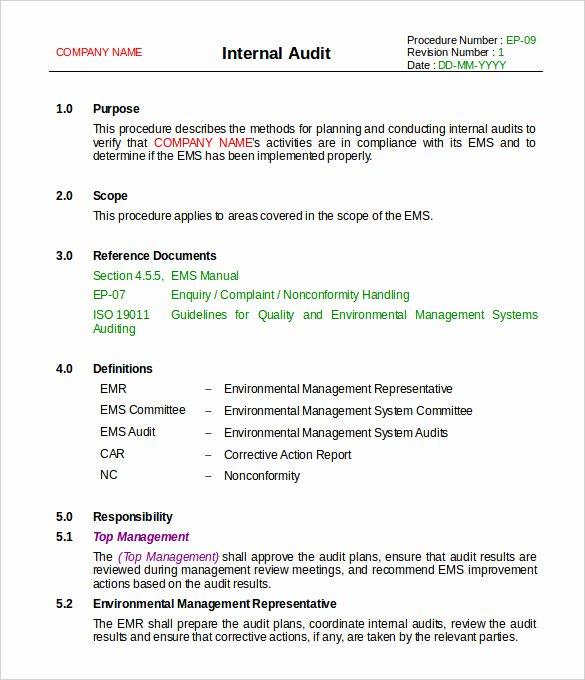 Internal Audit Report Templates Elegant 20 Internal Audit Report Templates Word Pdf Apple